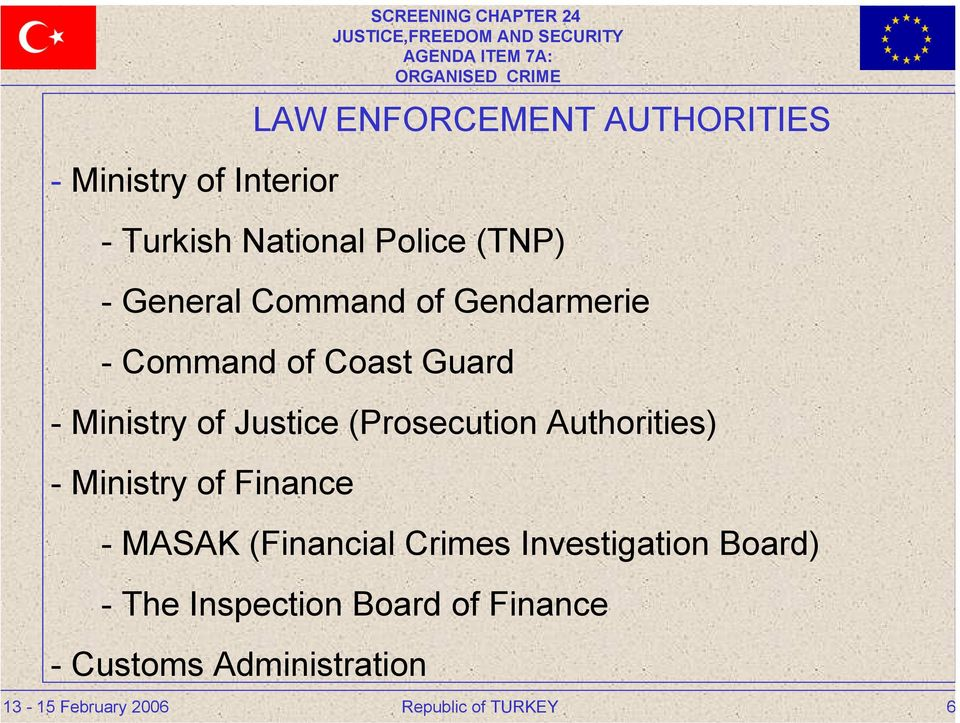 (Prosecution Authorities) - Ministry of Finance - MASAK (Financial Crimes