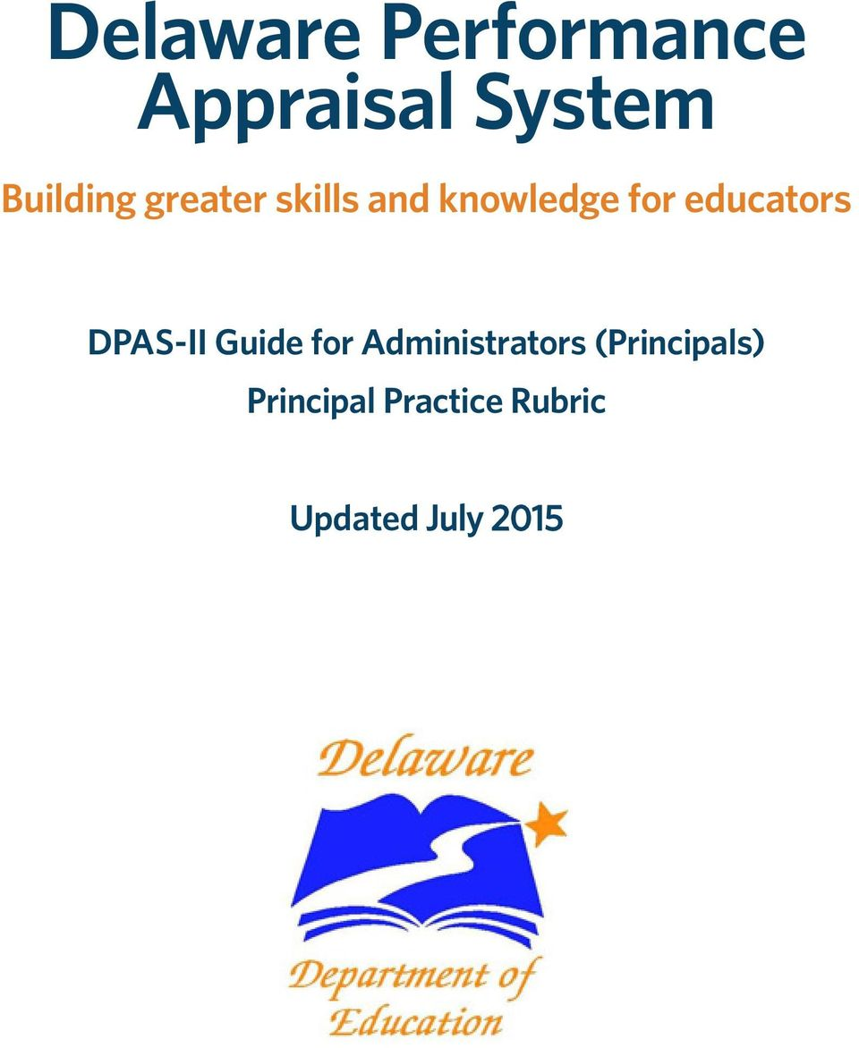 educators DPAS-II Guide for Administrators