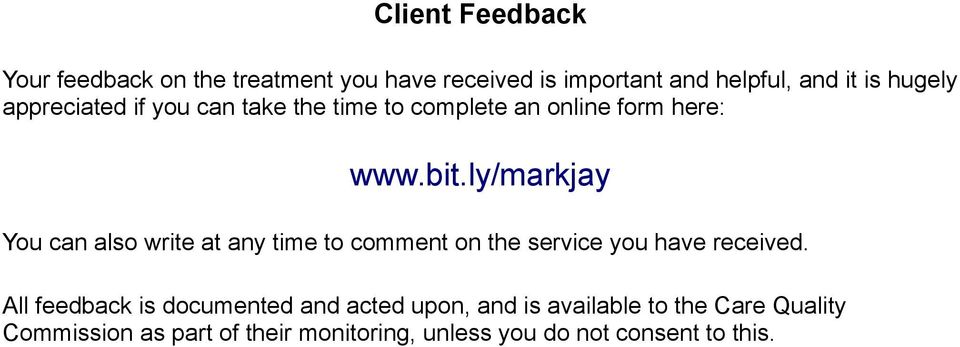 ly/markjay You can also write at any time to comment on the service you have received.