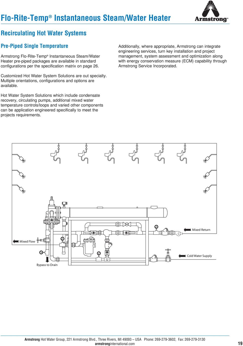 Water Heating Temperature Control Feed Forward Digital Pdf Hot System Diagram In Addition Wiring Additionally Where Appropriate Armstrong Can Integrate Engineering Services Turn Key Installation And Project 20 Recirculating