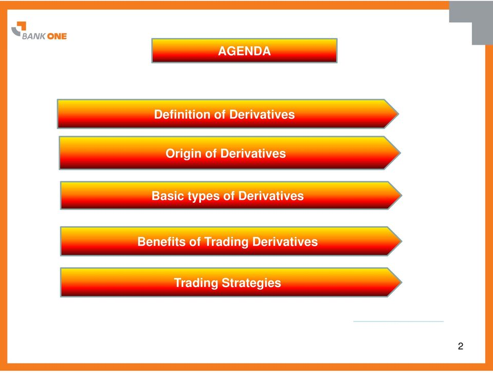 of Derivatives Benefits of