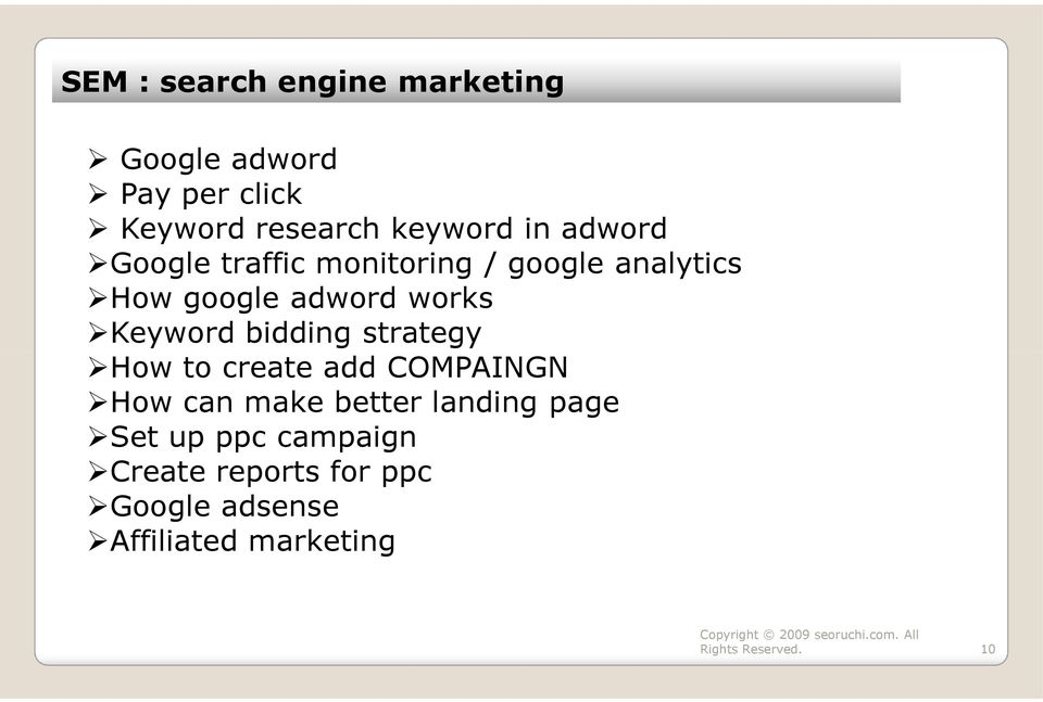 Keyword bidding strategy How to create add COMPAINGN How can make better landing