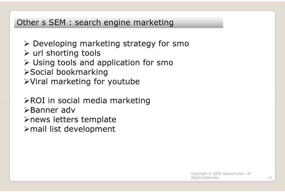 for smo Social bookmarking Viral marketing for youtube ROI in