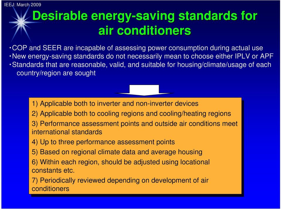 Standards & Labeling System for Air-conditioning Equipment