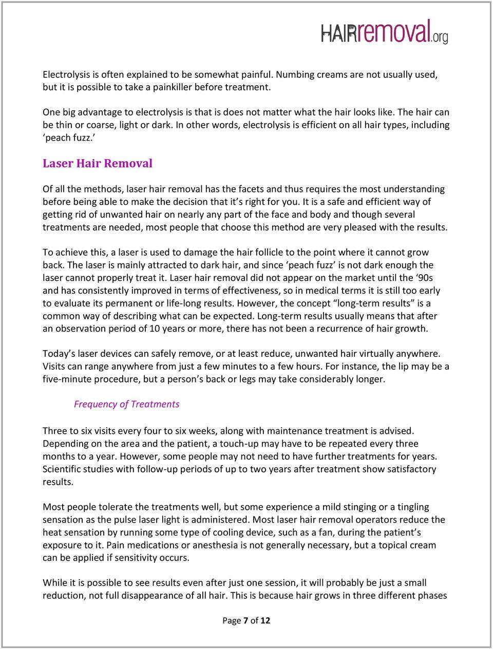 The Hair Removal ebook! - PDF
