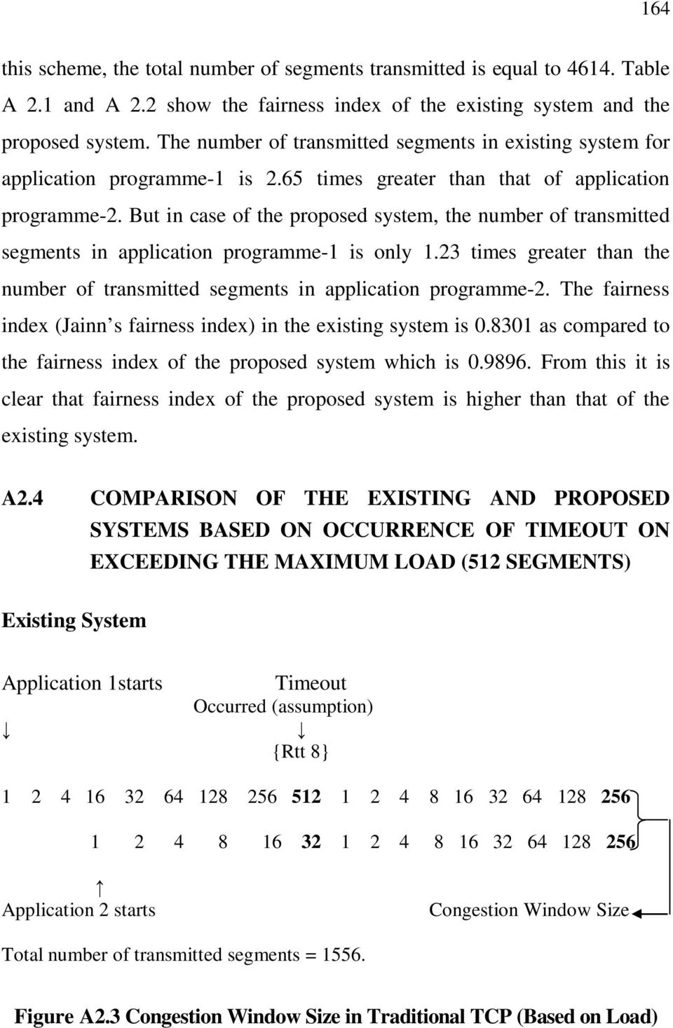 But in case of the proposed system, the number of transmitted segments in application programme-1 is only 1.23 times greater than the number of transmitted segments in application programme-2.