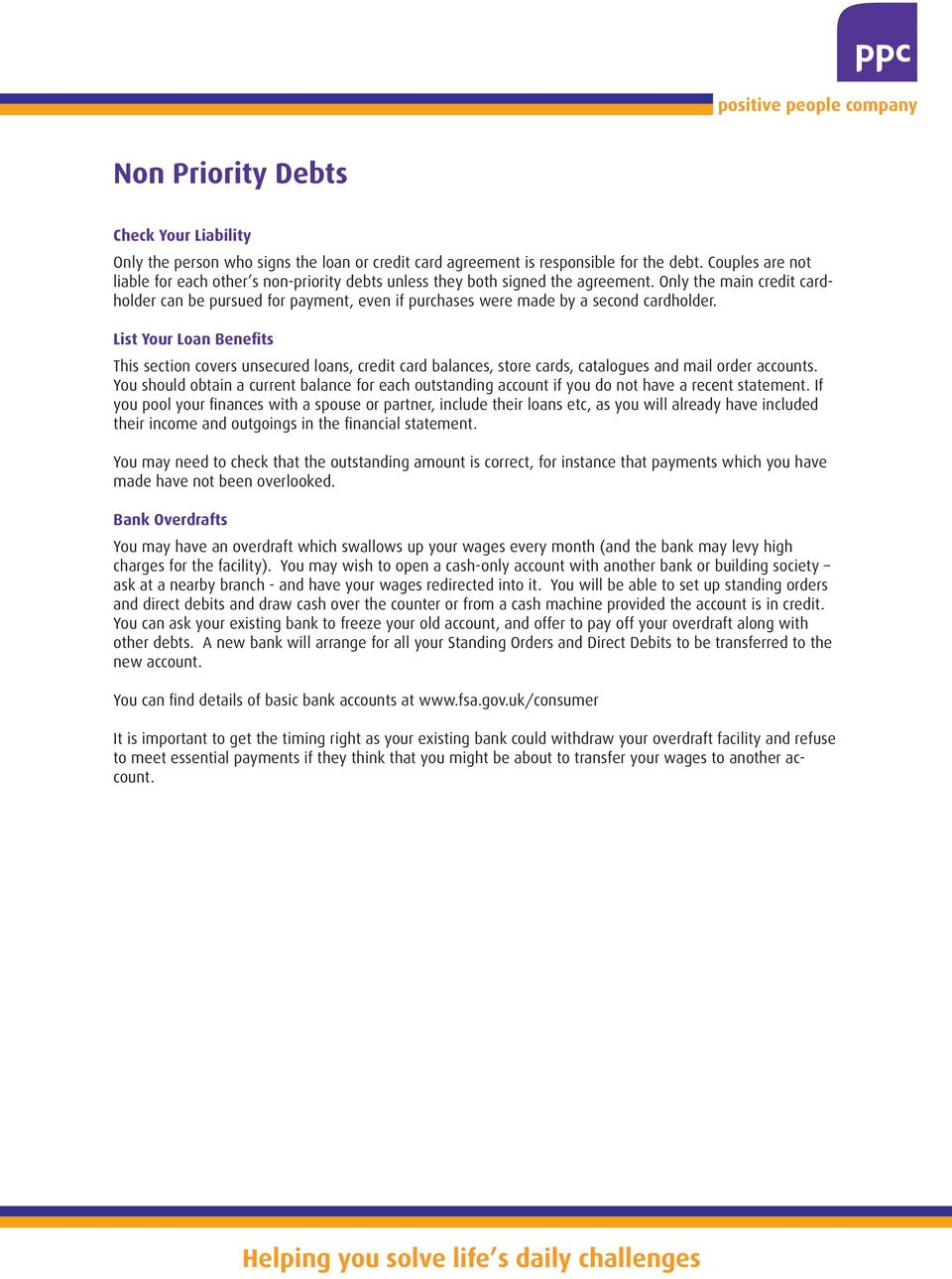 Dealing With Your Debts - PDF