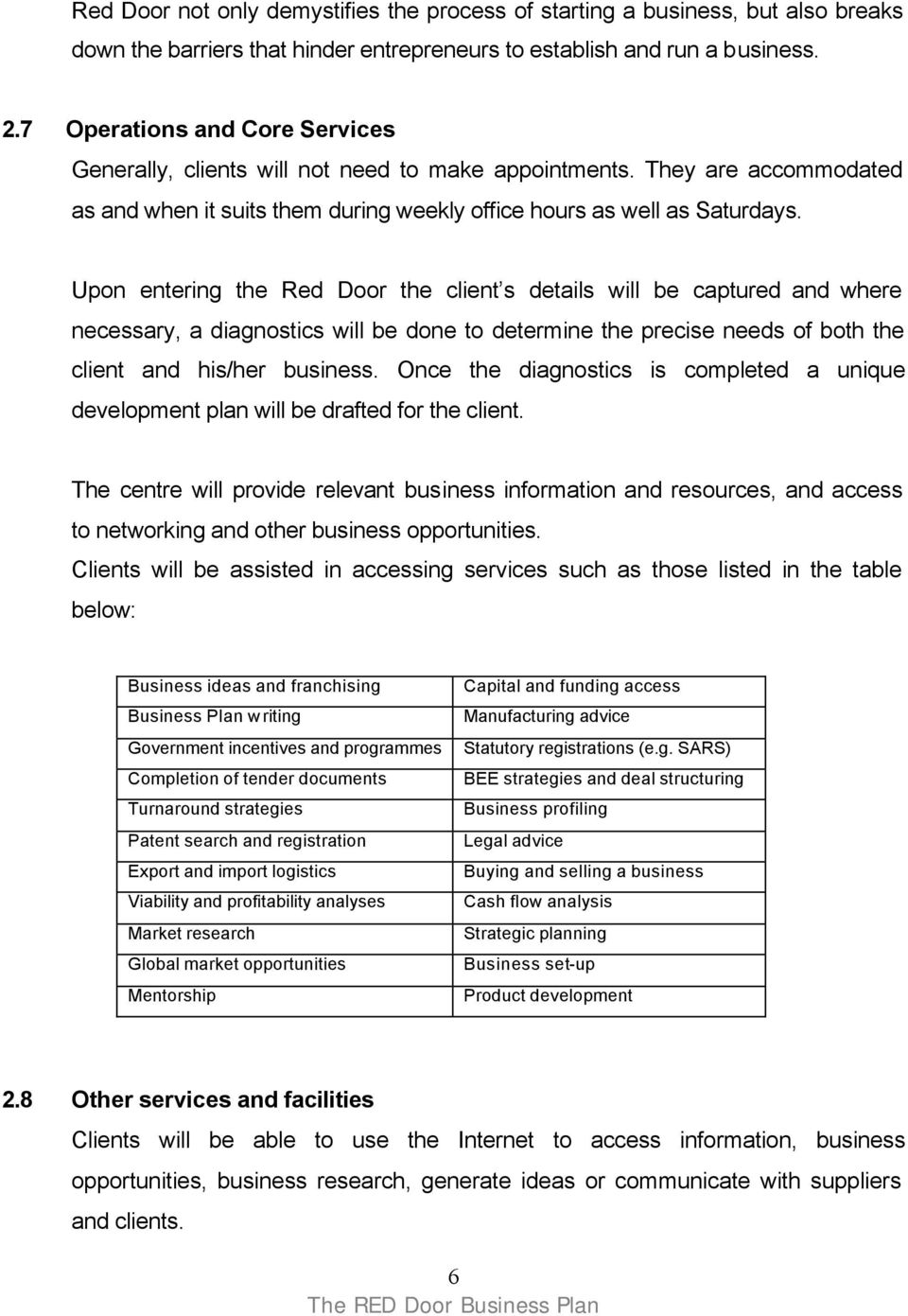 umsobomvu business plan guidelines