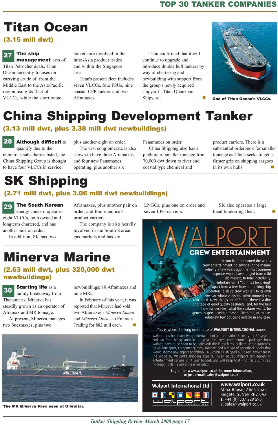 A TANKEROperator publication  Tanker shipping  March review