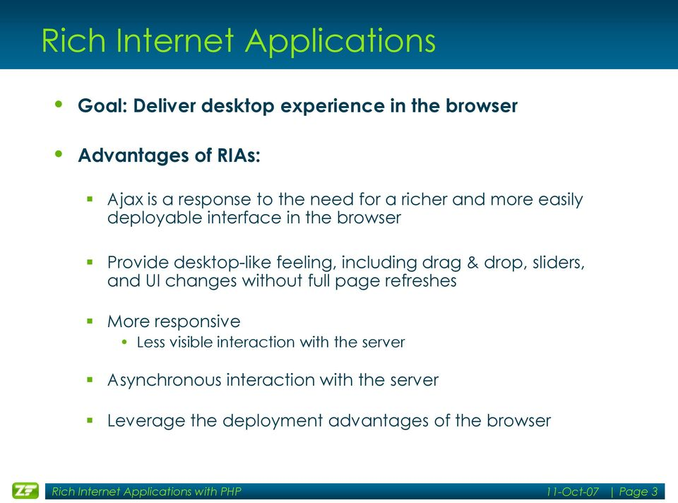 Building Rich Internet Applications with PHP and Zend Framework - PDF