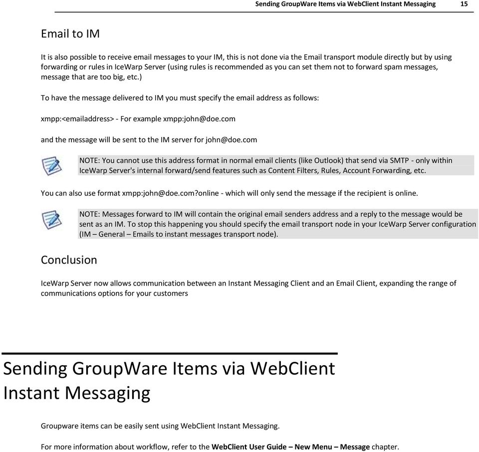 Instant Messaging Service Reference - PDF