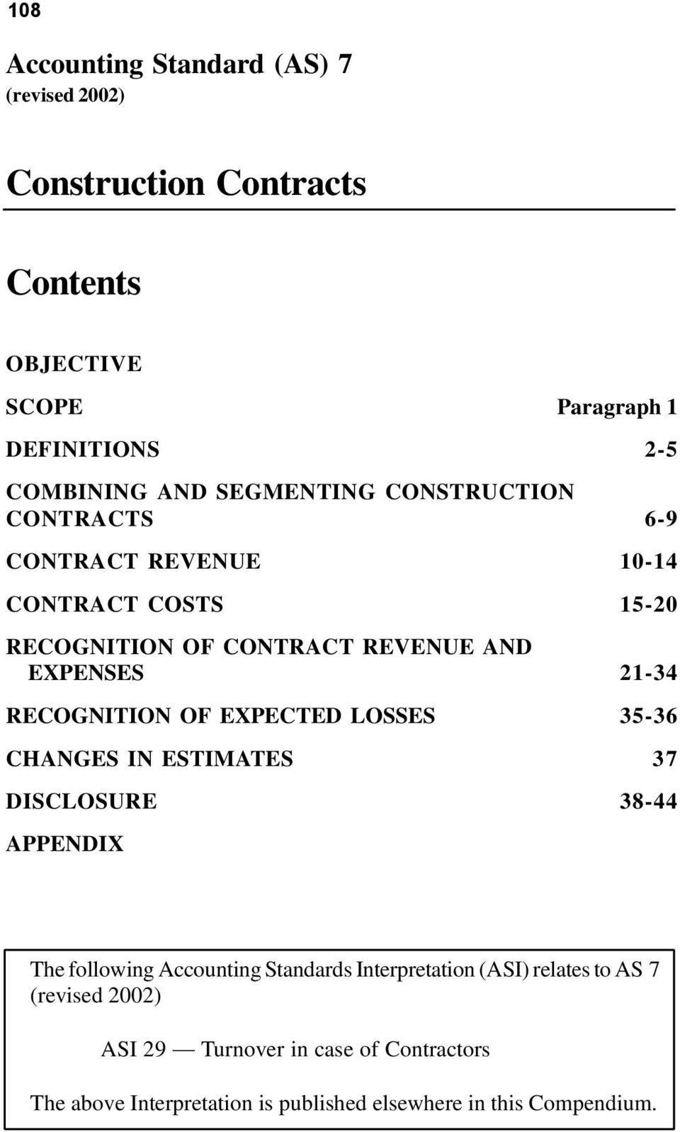 The following Accounting Standards Interpretation (ASI