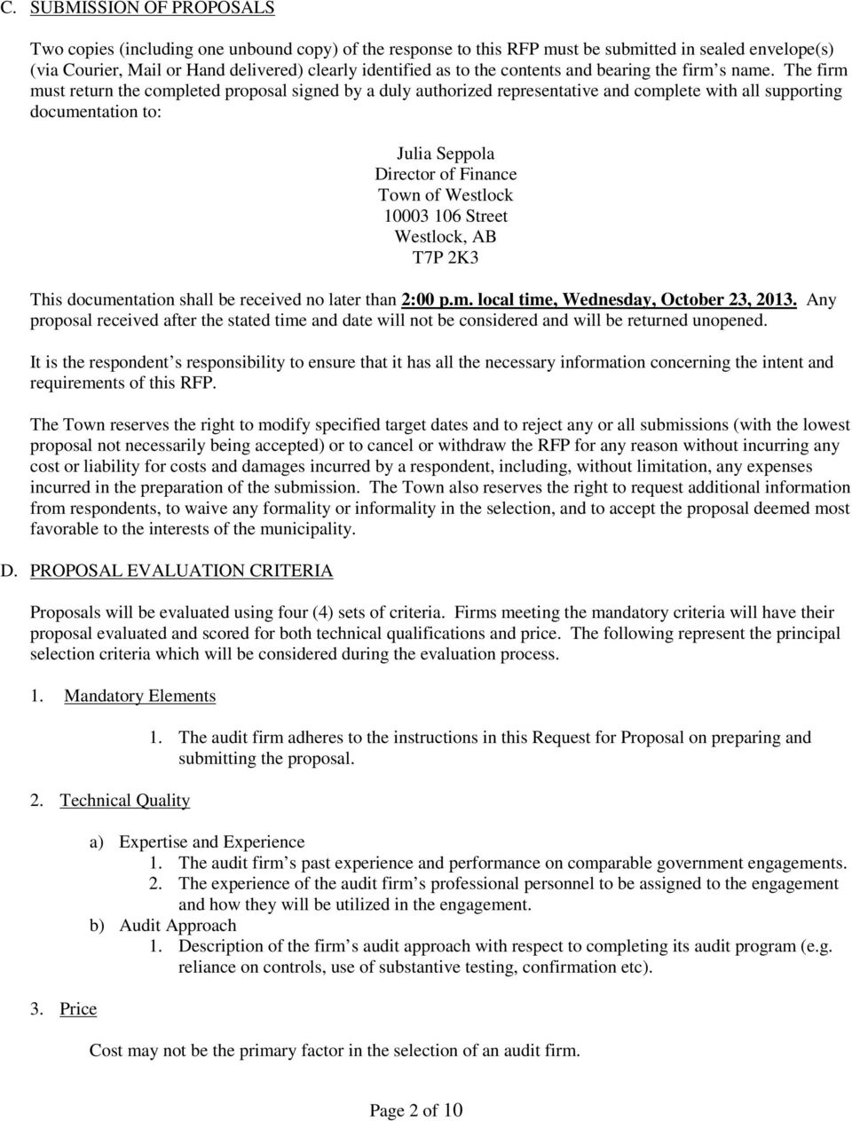 PROFESSIONAL AUDITING SERVICES REQUEST FOR PROPOSALS (RFP) - PDF