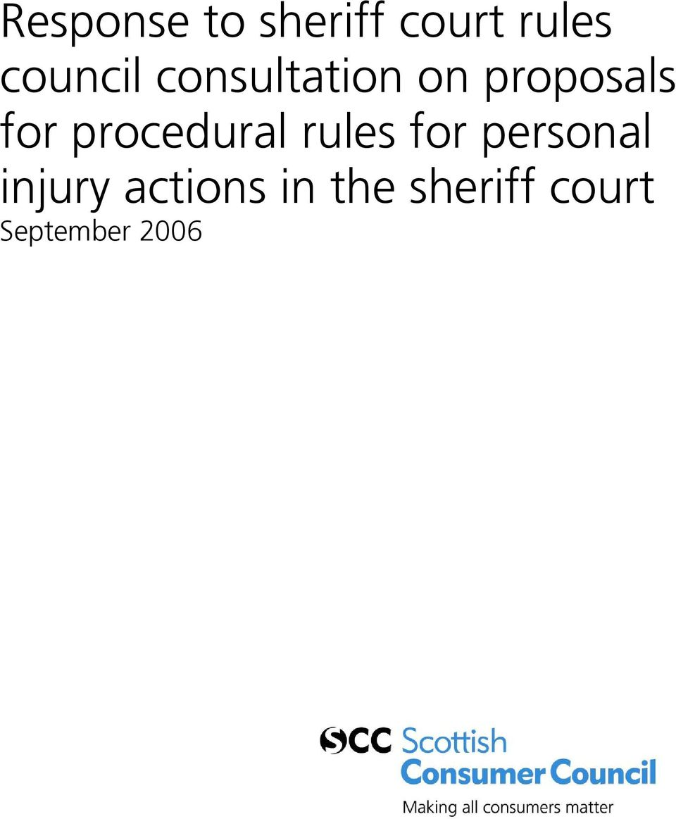 procedural rules for personal injury