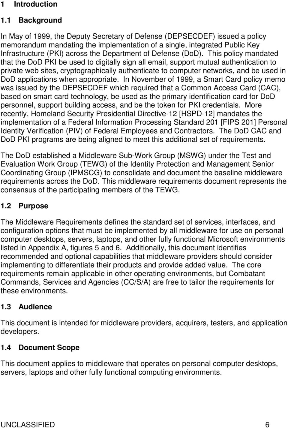 DoD CAC Middleware Requirements Release PDF