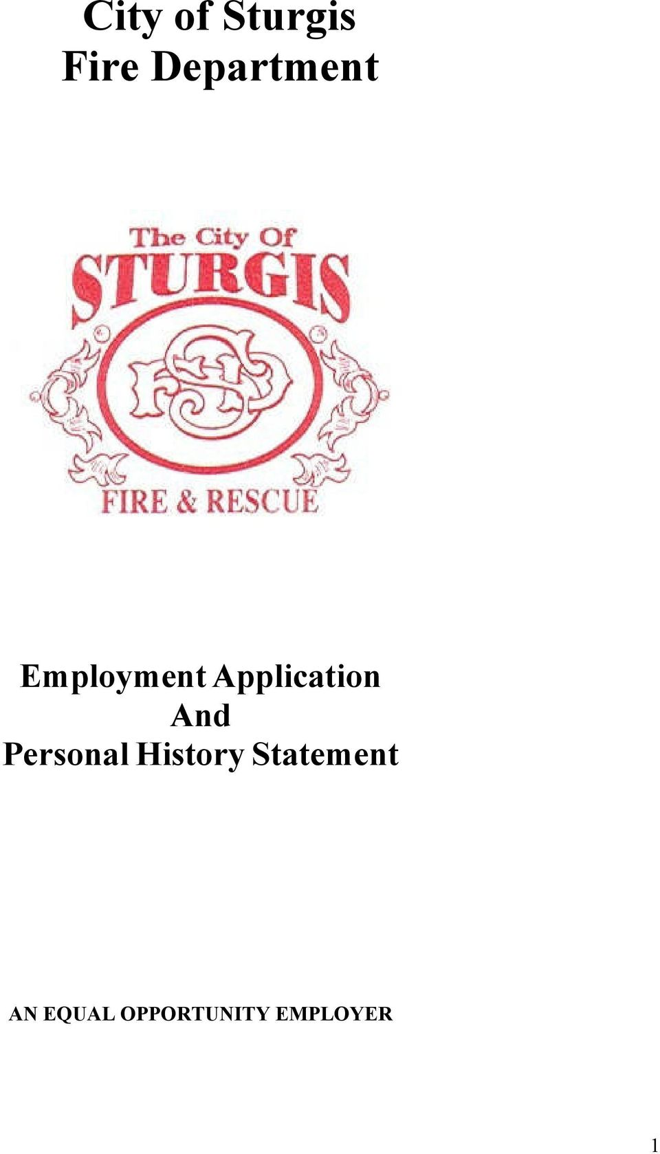 Application And Personal