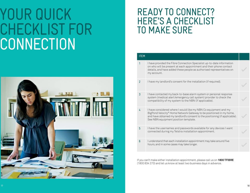 CONNECTING YOUR HOME TO TELSTRA SERVICES ON THE NBN TELSTRA GUIDE TO