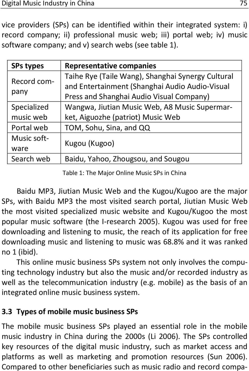 The development of the digital music industry in China