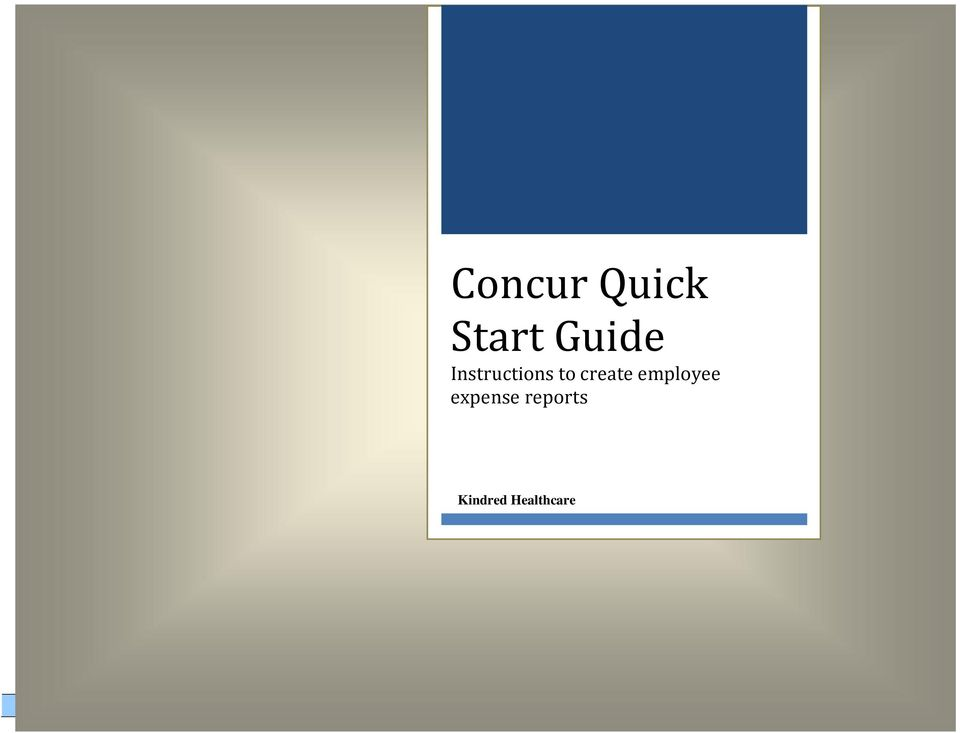 concur quick start guide instructions to create employee expense