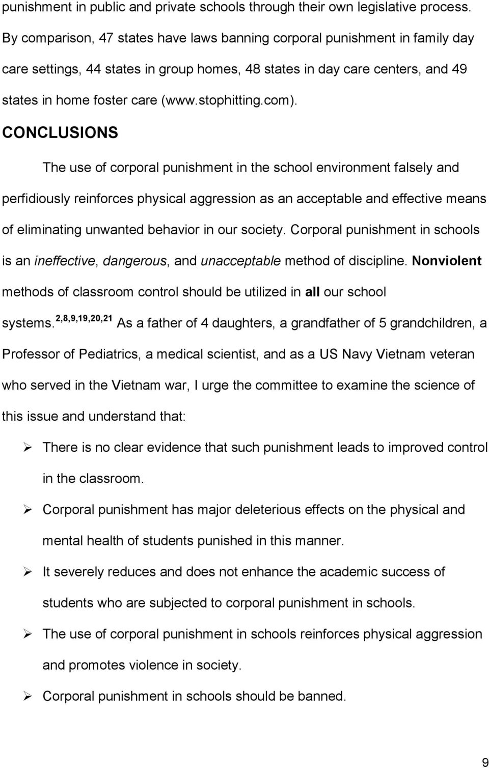 emotional effects of corporal punishment
