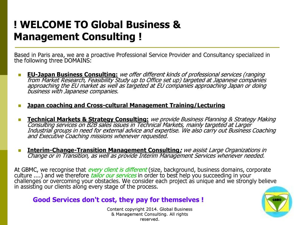 Gbmc Global Business Management Consulting Pdf Free Download