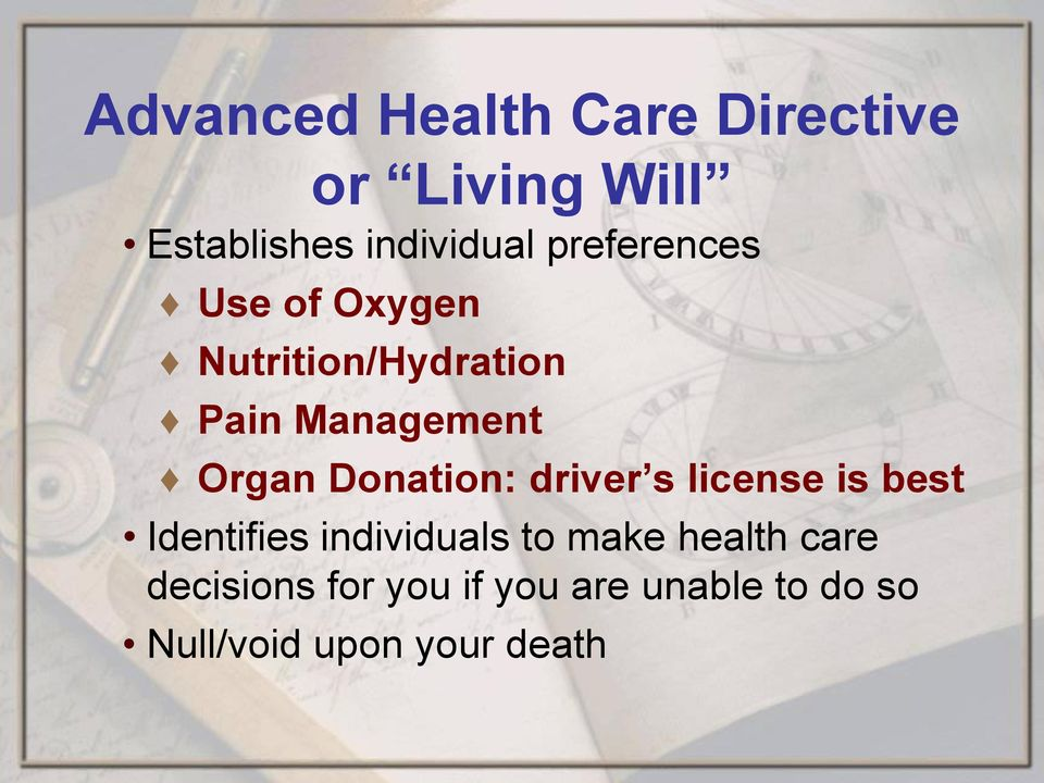 Donation: driver s license is best Identifies individuals to make