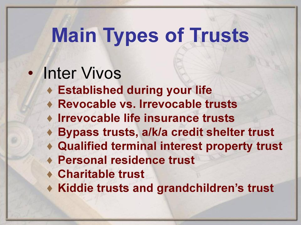 a/k/a credit shelter trust Qualified terminal interest property trust
