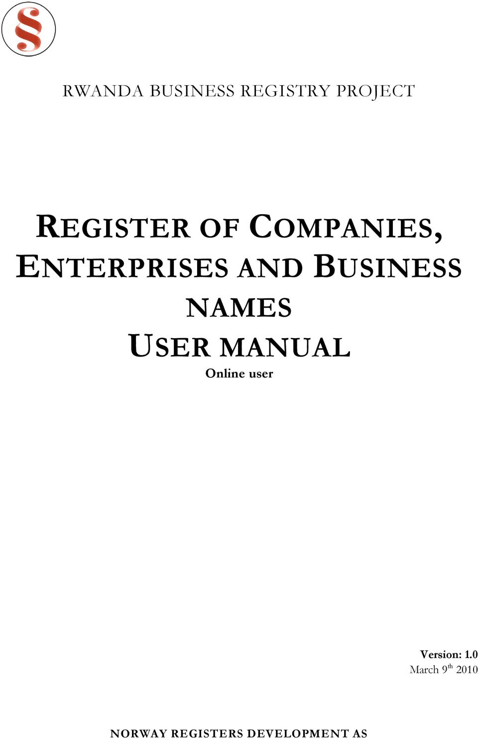 NAMES USER MANUAL Online user Version: 1.