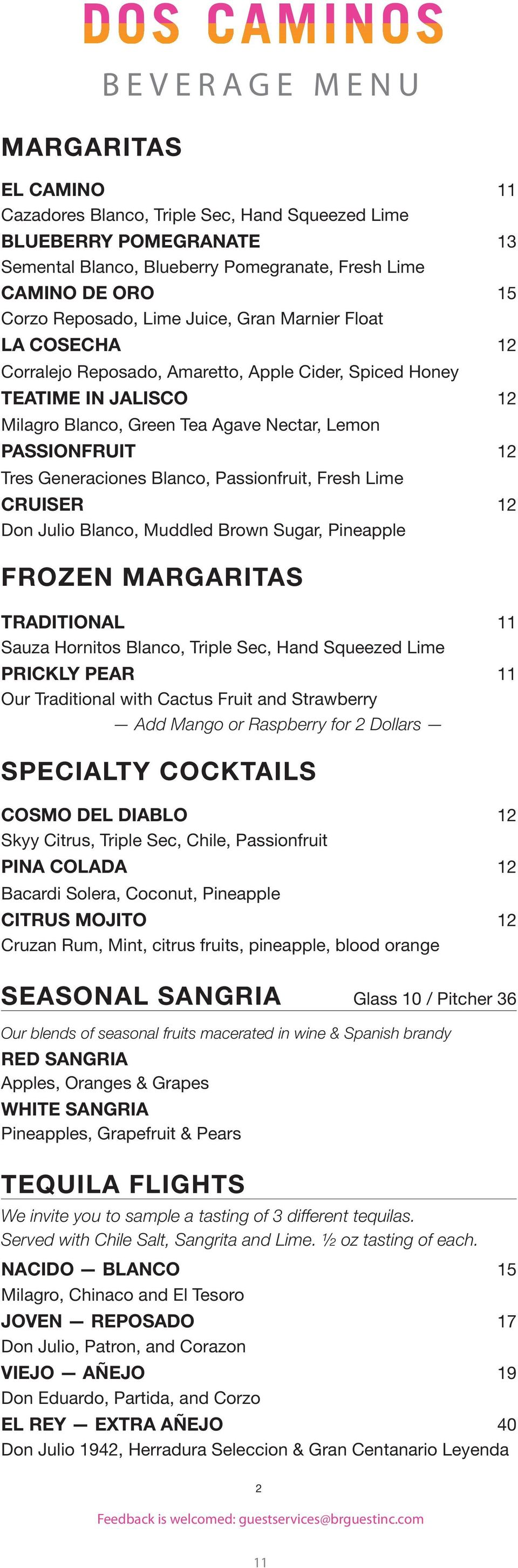 BEVERAGE MENU ABOUT TEQUILA - PDF Free