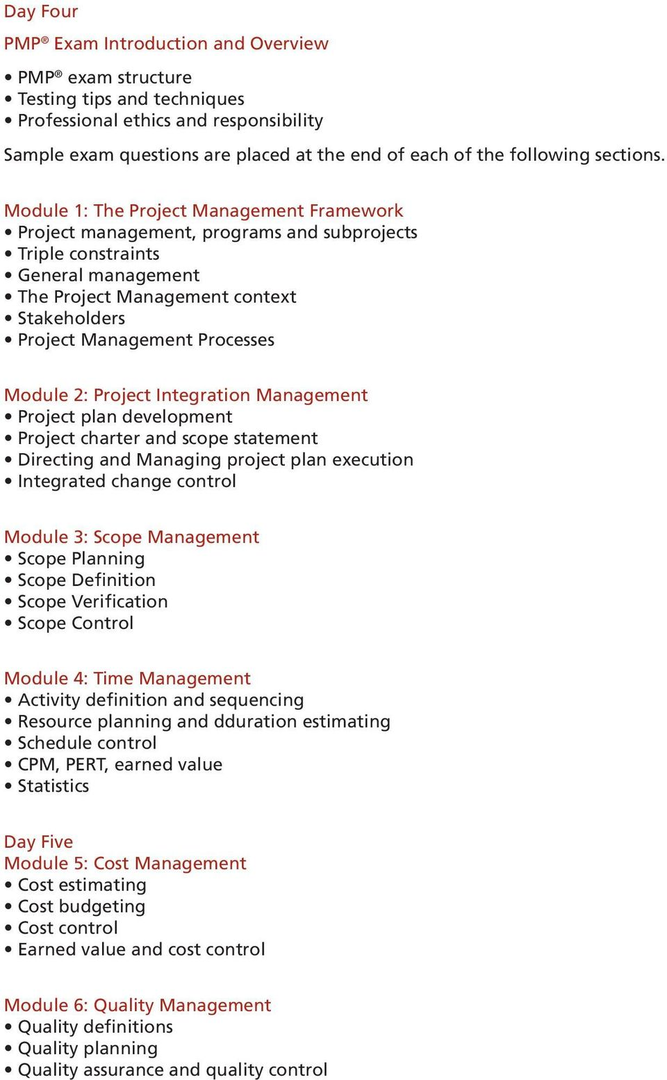 Project Management Professional Pmp Exam Preparation Pdf