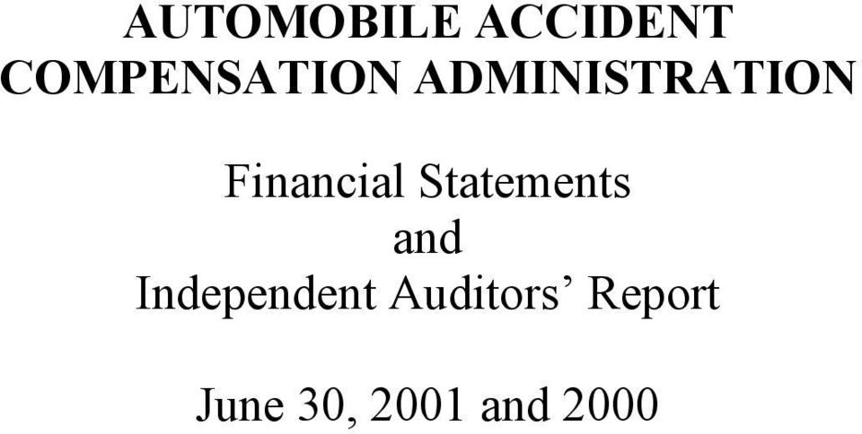 ADMINISTRATION Financial