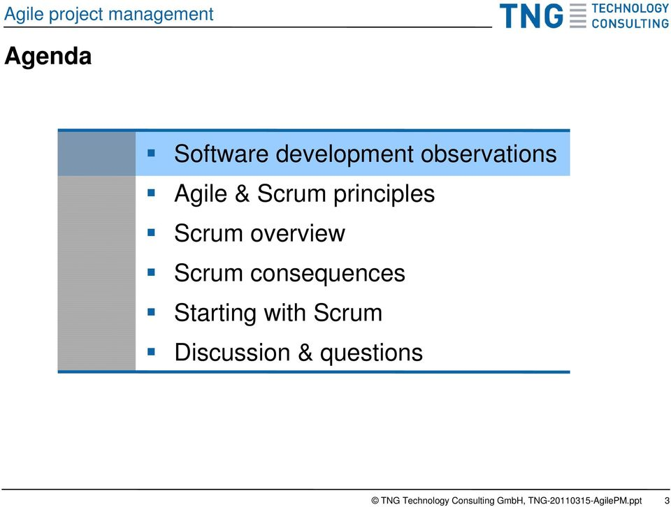 principles Scrum overview Scrum