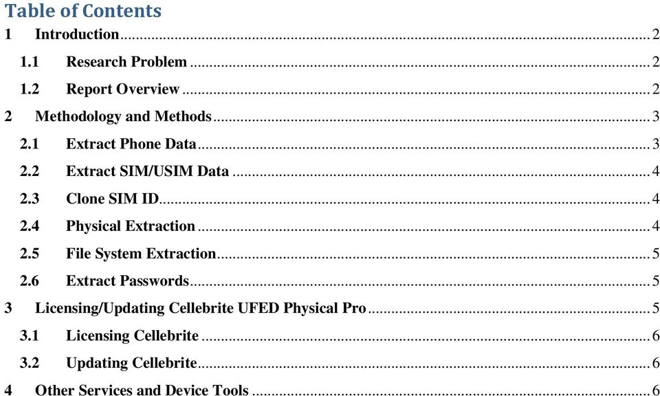 Cellebrite UFED Physical Pro Cell Phone Extraction Guide - PDF