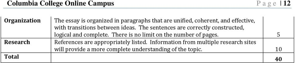 The sentences are correctly constructed, logical and complete. There is no limit on the number of pages.