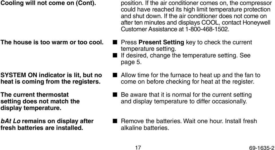 T8131C, T8132C Programmable Thermostat - PDF