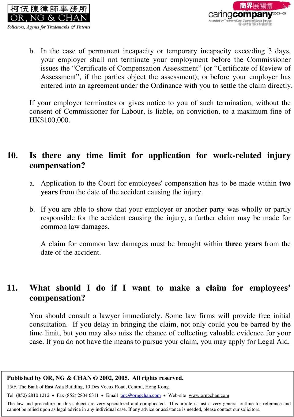 Pensation For Work Injuries And Occupational