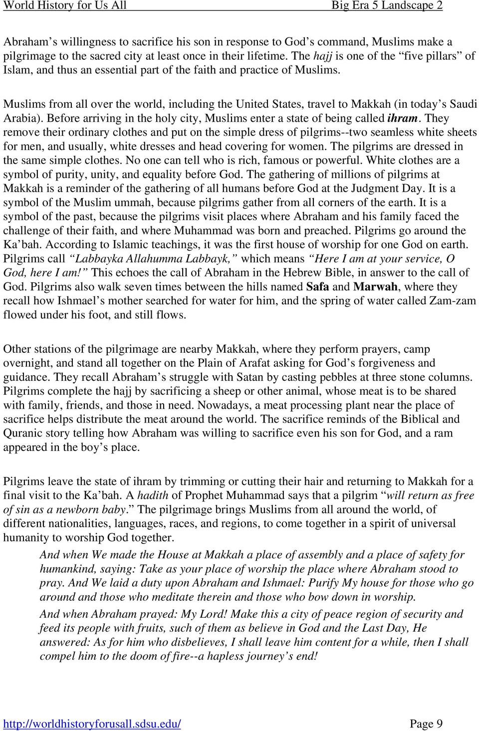 Lesson 1 Student Handout 1 1 Islamic Beliefs And Practices Pdf Free Download