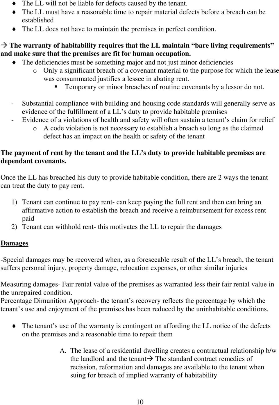 Property Outline  - Nutshell- Lease of land conveys an