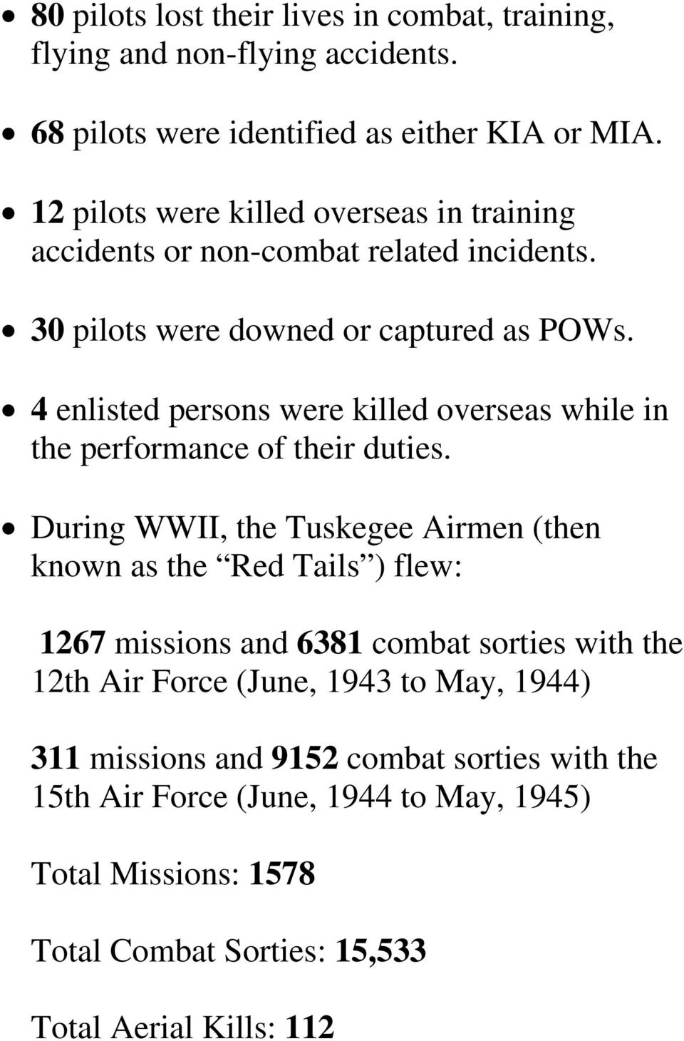 4 enlisted persons were killed overseas while in the performance of their duties.