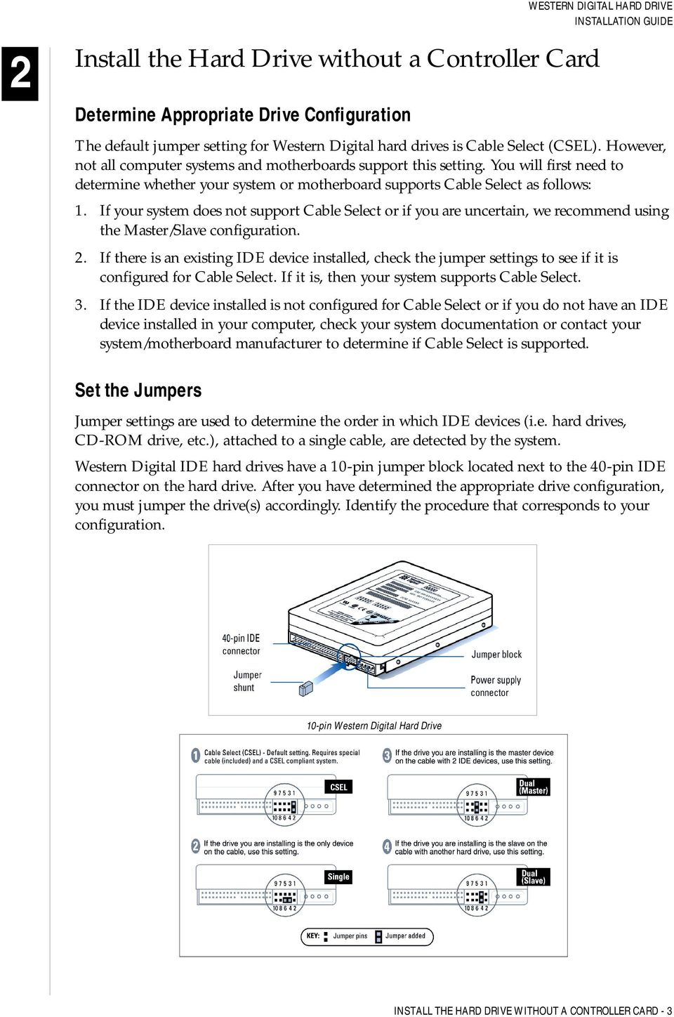 Western Digital Hard Drive Installation Guide - PDF