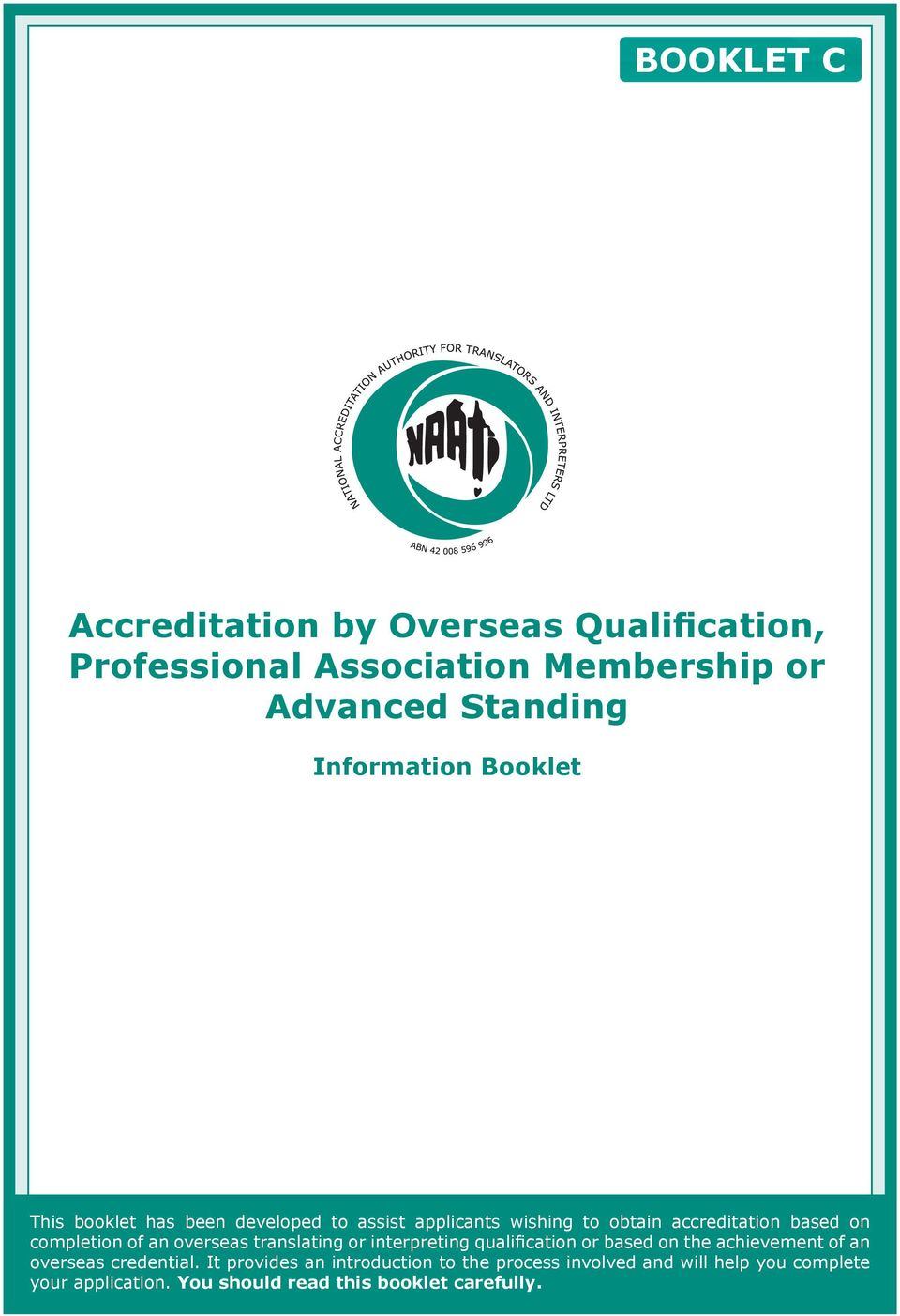 overseas translating or interpreting qualification or based on the achievement of an overseas credential.