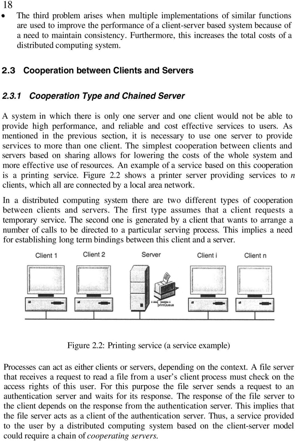 Cooperation between Clients and Servers 2.3.