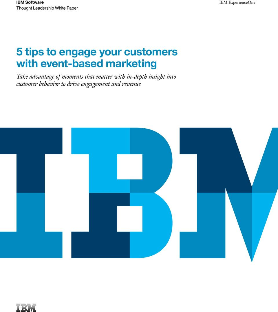 event-based marketing Take advantage of moments that