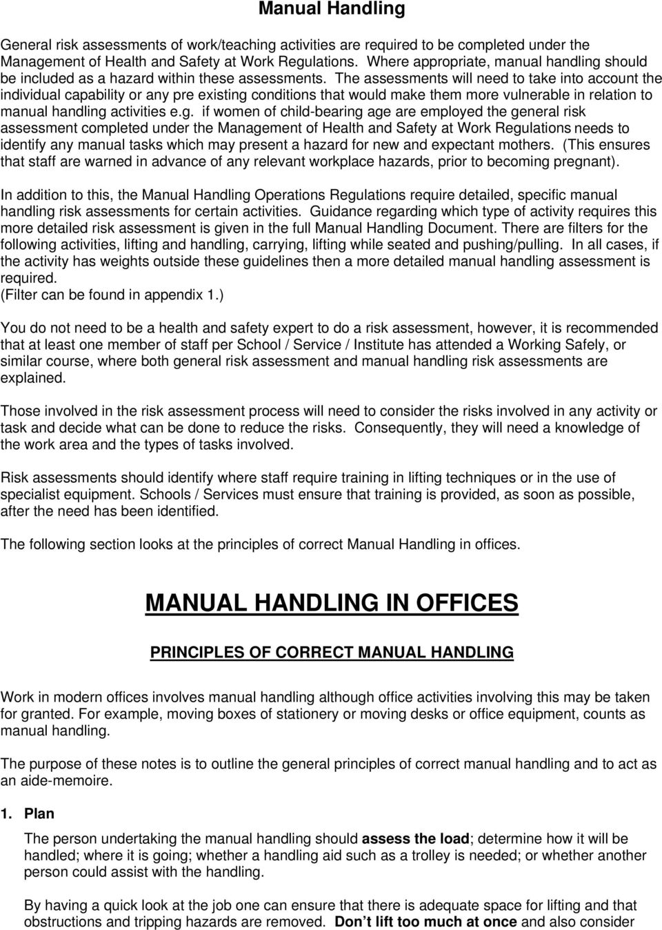 Manual handling in offices pdf the assessments will need to take into account the individual capability or any pre existing maxwellsz