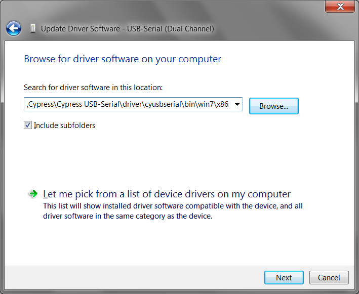 Driver: Cypress USB-Serial Composite Device