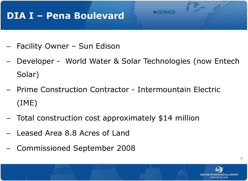 - Intermountain Electric (IME) Total construction cost approximately