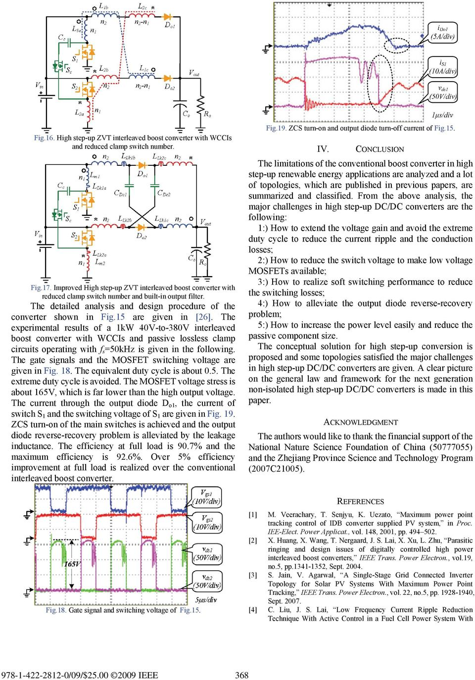 A Review Of Non Isolated High Step Up Dc Converters In Renewable Converter Interleaved Operation For Frequency Ripple Reduction 15 Are Given 26 The Experimental Results 1kw 40v