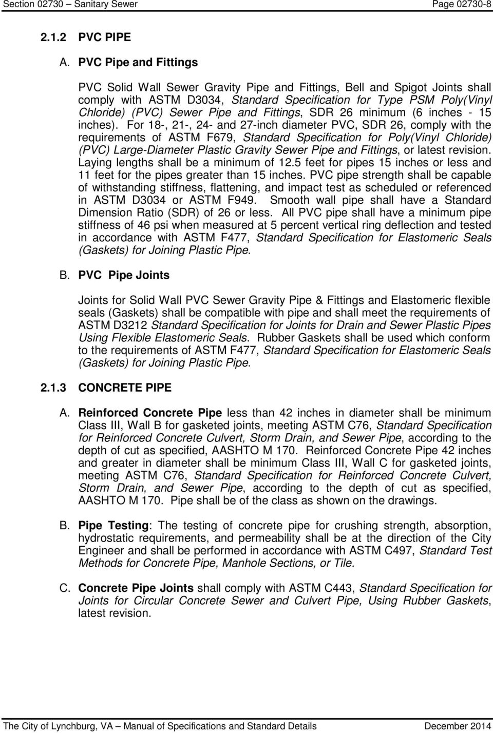Section Sanitary Sewer Page - PDF