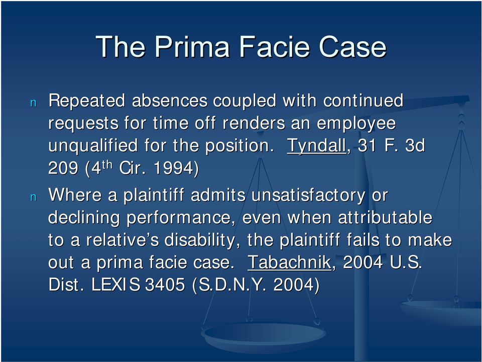 1994) Where a plaintiff admits unsatisfactory or declining performance, even when attributable to a