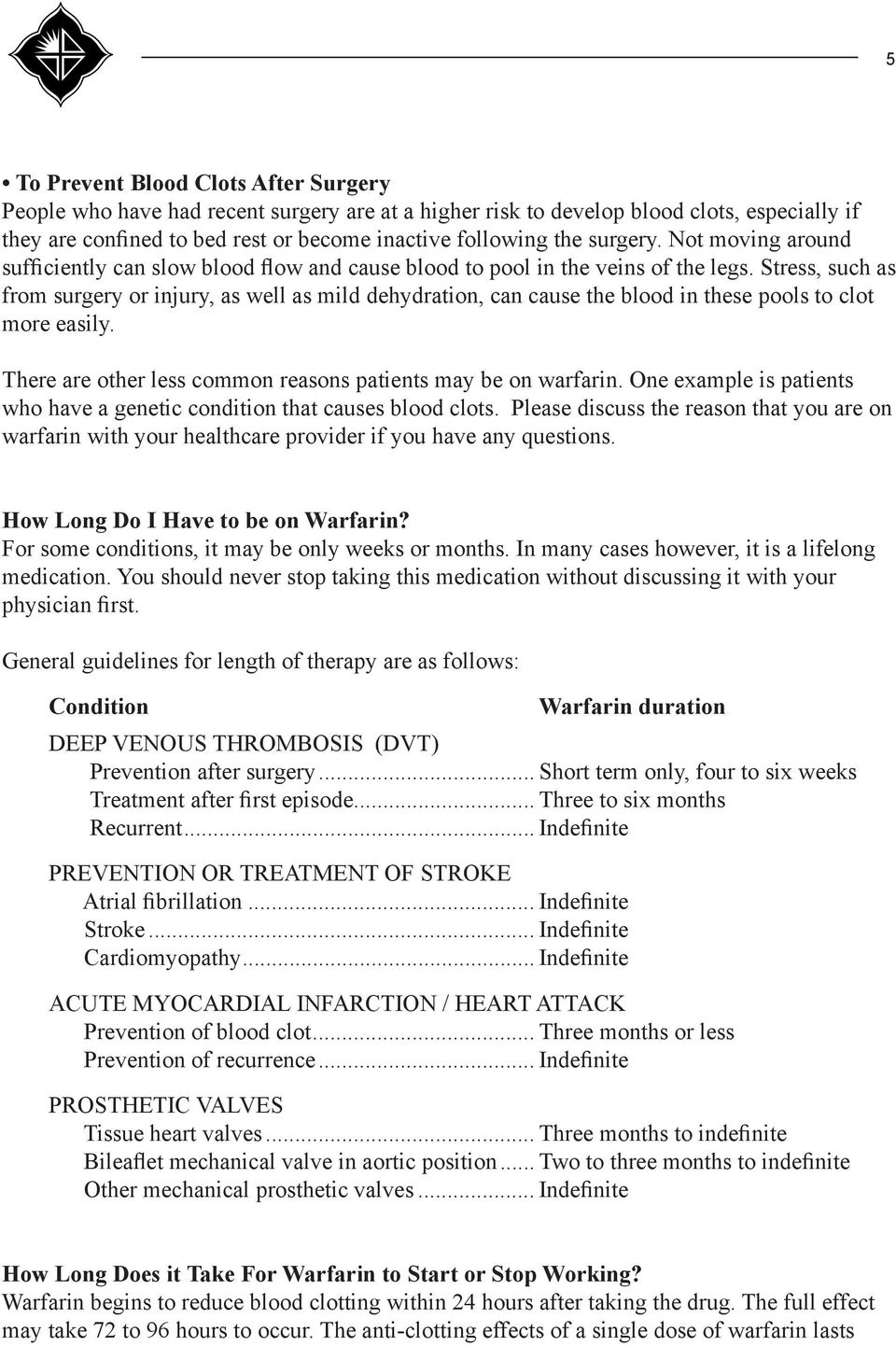 How to Live with Warfarin How to Live with Warfarin new picture